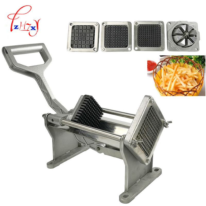 Commercial Manual Potato Slicer Fruit Vegetable cutter slicer Fry Chopper Tool Potato Cutting Machine With 4 Blades 1pc