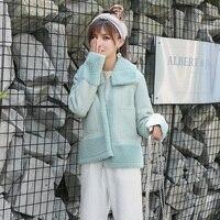 2018 Новая модная шуба, импортная овечья шерсть шуба женская куртка из натурального меха женские зимние пальто MW4194
