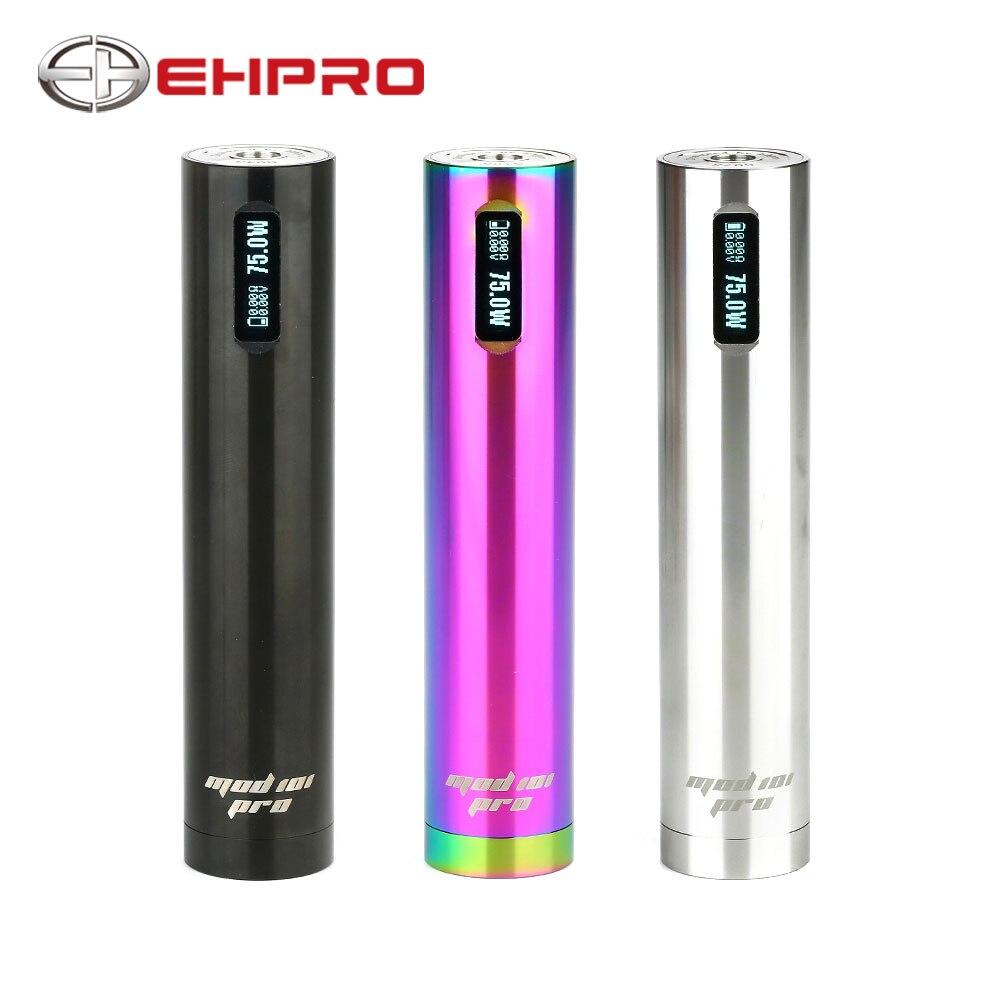 Ehpro 101 Pro TC Mod 75 W Penstyle TC MOD stylo Mod OLED affichage à un bouton conception No 18650 batterie Cigarette électronique Mod