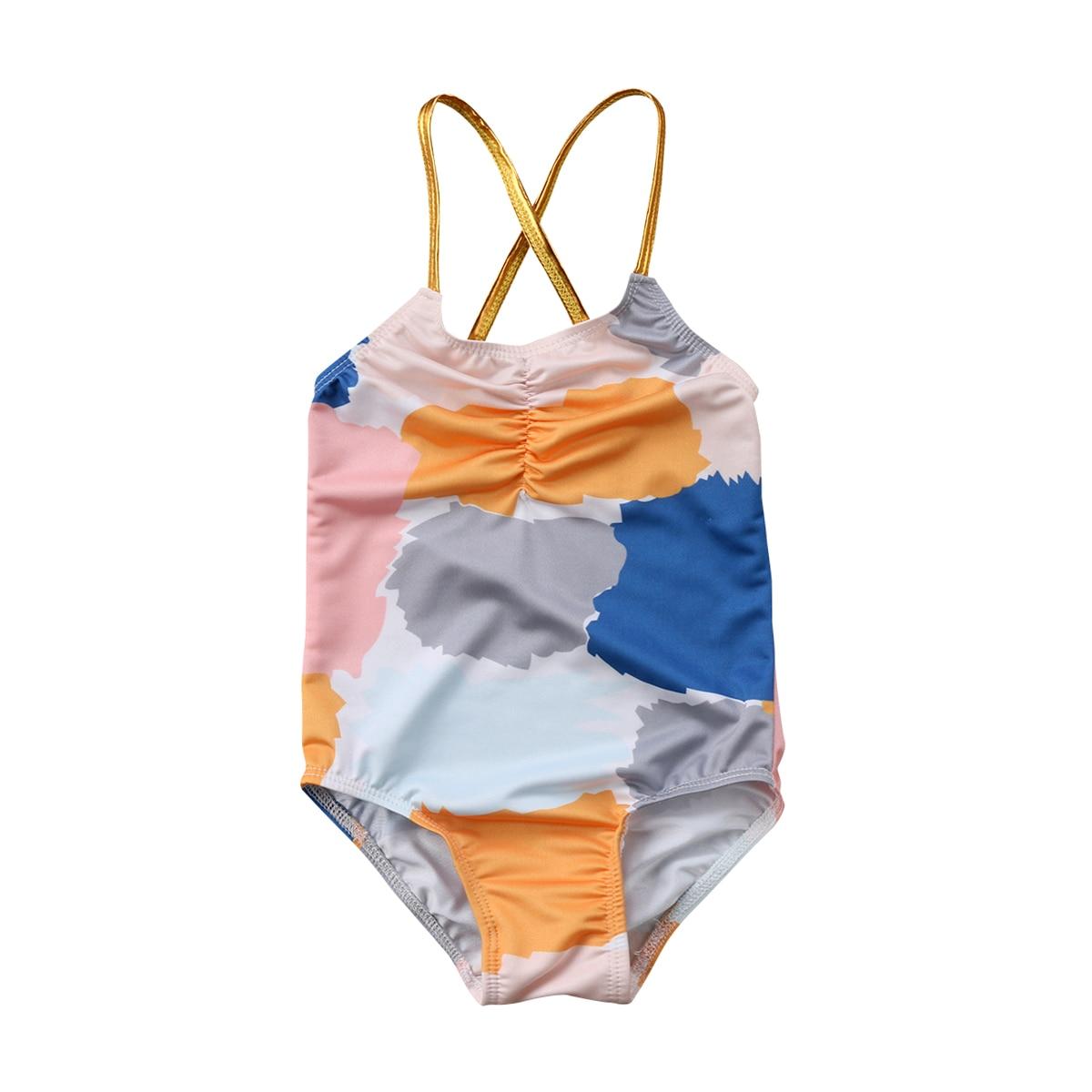 Lovely Newborn Toddled Kid Baby Girls Halter Colorful Swimwear Swimsuit Bathing Suit One-Piece Bikini Beach 2018 Summer New