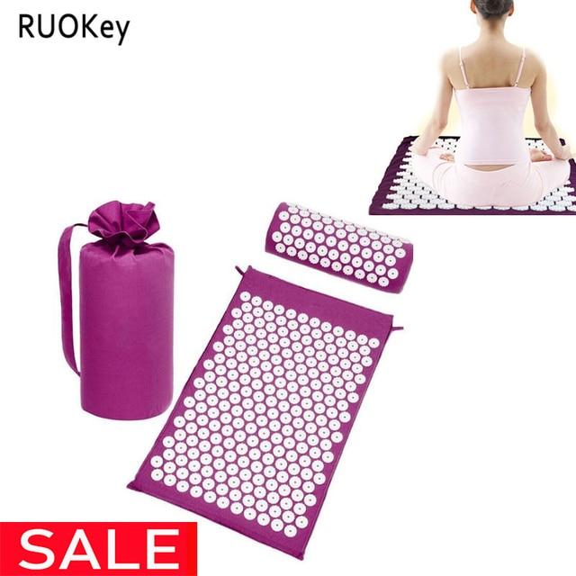 Acupressure Mat Massager Relieve Stress Pain Yoga Mat Natural Relief Stress Tension Body Massage Pillow Cushion
