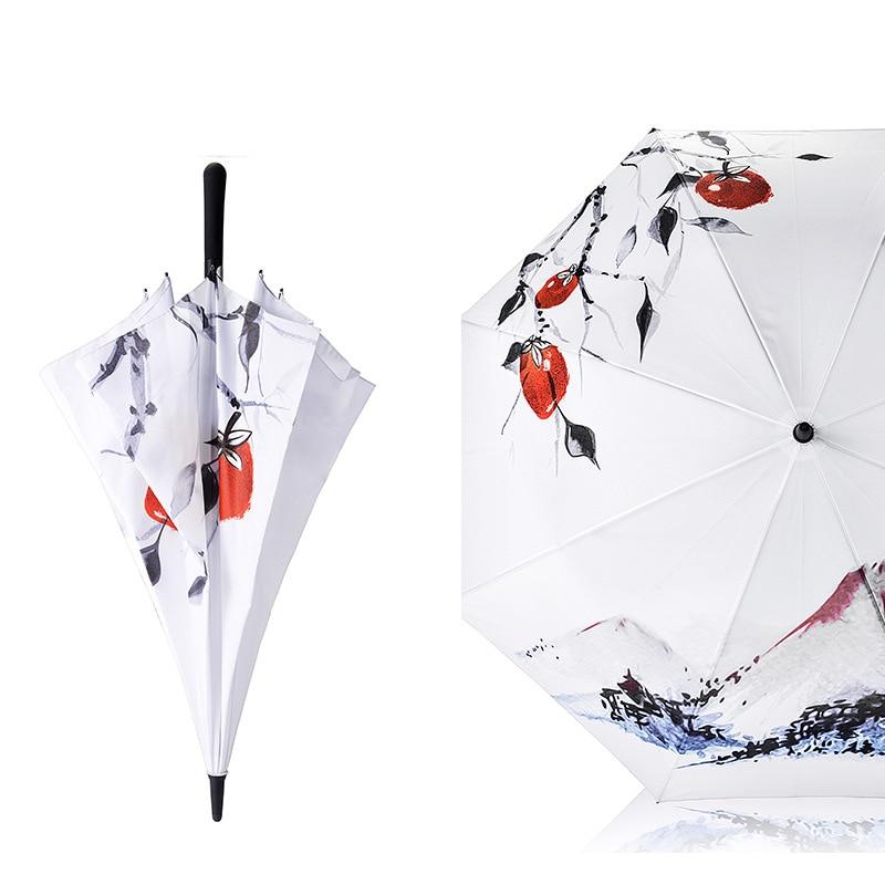 Golf Design Ideas Ink Wash Painting Handle Straight Umbrella Super Big Umbrella Business Umbrella 2018 Multifunction Umbrellas