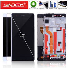Sinbeda 5.2 For Huawei P9 LCD Display Touch Screen Digitizer with Frame Assemble HUAWEI EVA-L09 EVA-L19 EVA L29
