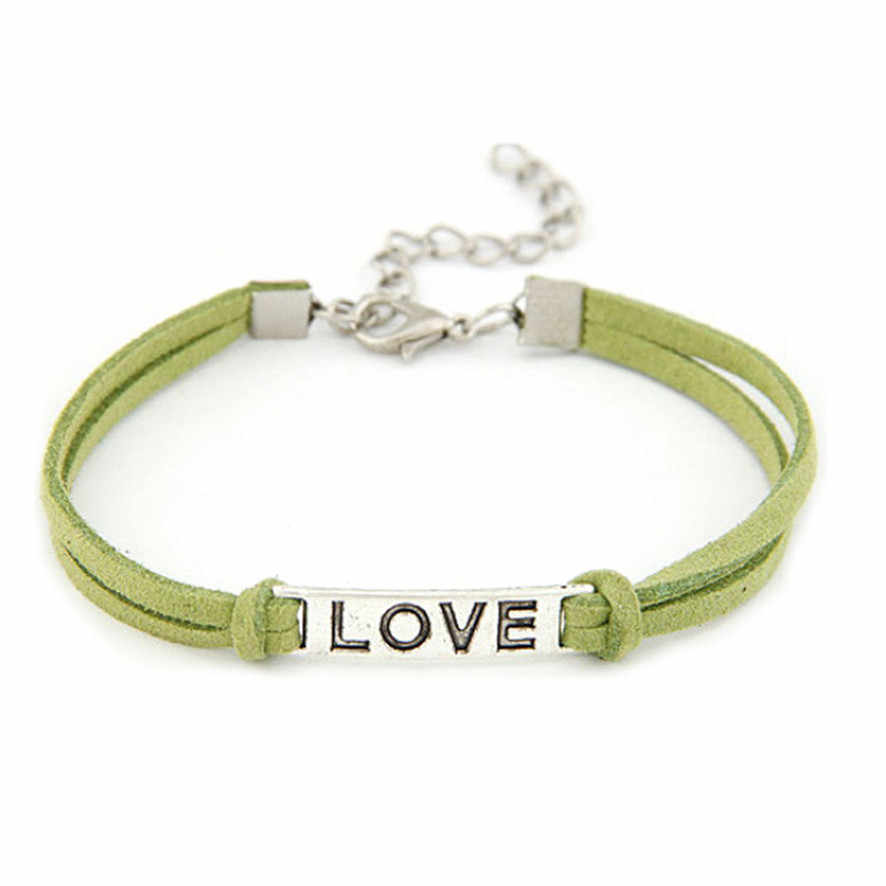 HOT Brand 1 st Vrouwen Mannen Liefde Handgemaakte Legering Touw Charme Sieraden Weave Armband Gift 11.22