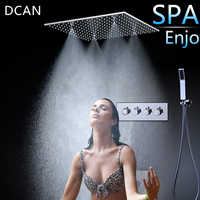 Spray SPA Thermostat Shower Set 20 Inch sky Curtain Dark Wall Into the Multi-Function Shower Nozzle 3 Outlet Hight Flow Switch