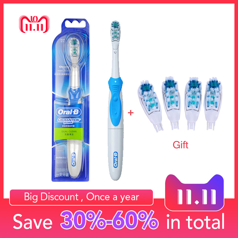 Oral B Cross Action Electric Toothbrush Teeth Whitening Tooth Brush Electric Brush Non-Rechargeable Battery Powered electric toothbrush rechargeable teeth whitening tooth brush adults childfren battery powered dental equipment