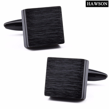 1 Pair Come With Box Retail Trendy Square Brushed Plain Metal Men Fashion Jewelry French Shirts Accessories Cuff Links