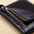 Homens carteiras curto carteira de couro genuíno sólida carteira masculina embreagem preço do dólar money bag bolsa para homens