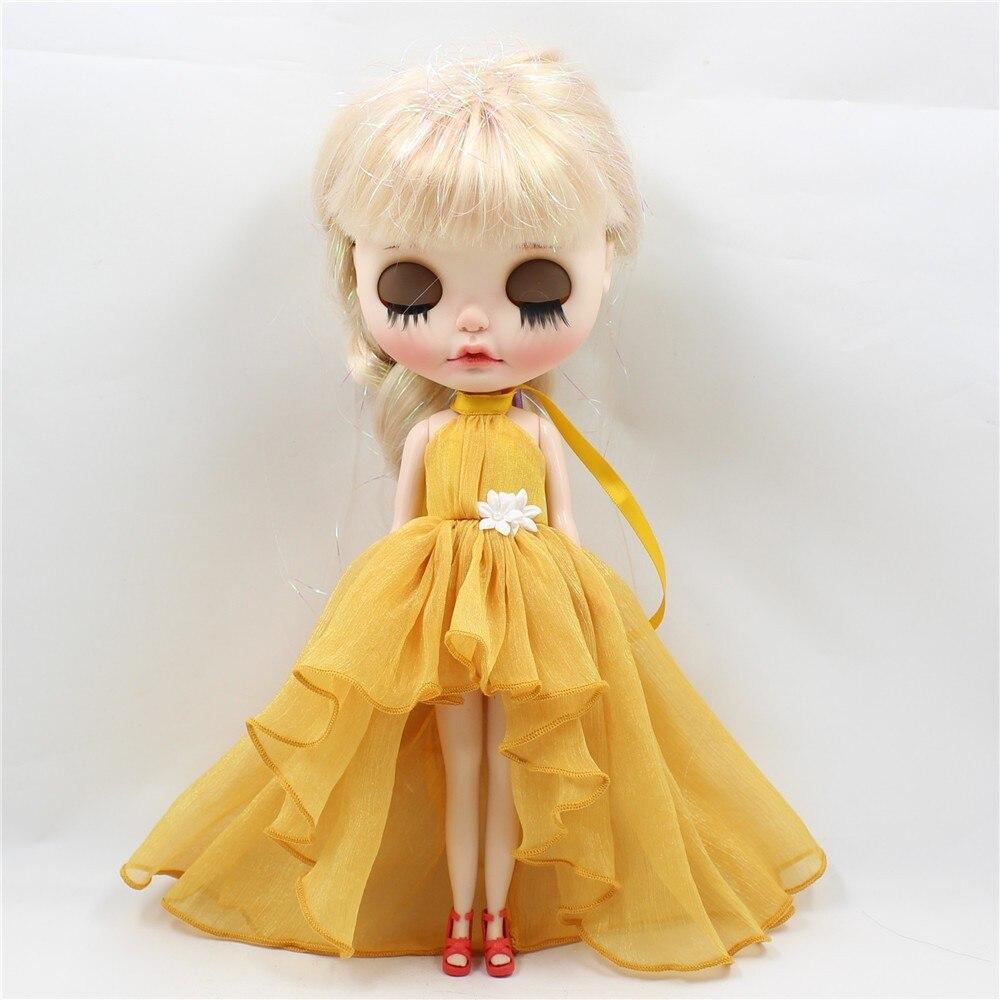 Neo Blythe Doll Chiffon Dress with Flower 16