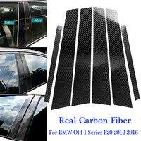 Decorative Carbon fiber Black Car B pillars Sticker Trim For BMW Old 1 Series F20 2012 2016 Replacement Durable