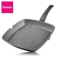 Fissman Square grill Pan Non stick Aluminium series with non stick coating Platinum