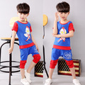 Red and blue Altman Boys Suit Costume Fashion Altrman Cosplay Clothing Kids Pajama Sets short Sleeve Toddler Baby Sleepwear