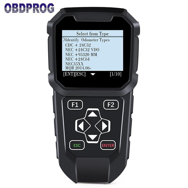 OBDPROG MT401 Multi Marchio di Auto Regolazione del Contachilometri Cambiamento OBD2 Strumento Diagnostico Professionale Strumento di Correzione di distanza in Miglia Via OBD