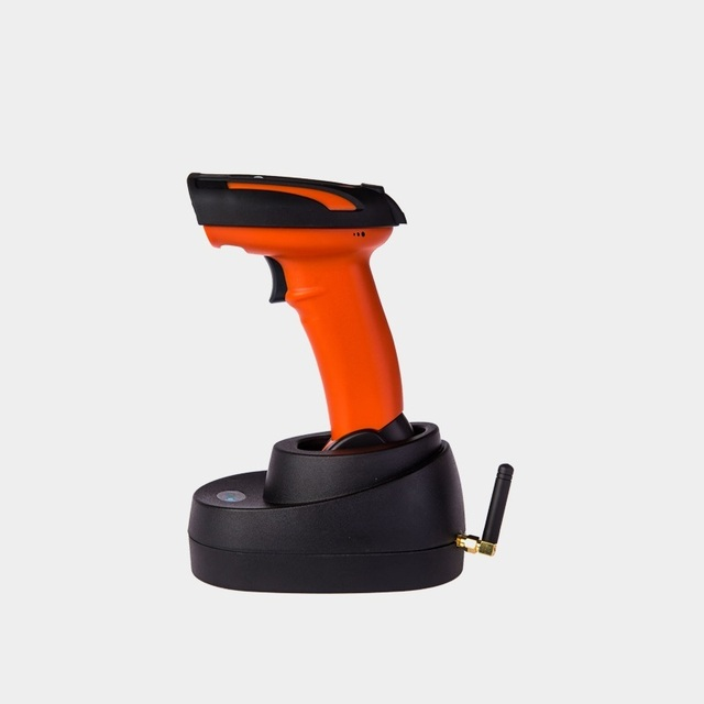 1D wireless barcode scanner with memory handheld laser bar code reader easy to use no driver plug and play
