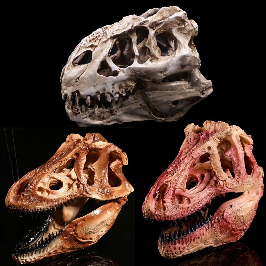 Tyrannosaurus rex dinosaur skull resin aquariums ornaments for Fish tank skull decoration