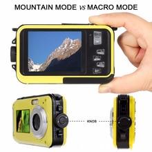 Digital Camera Waterproof 24MP MAX 1080P Double Screen 16X Digital Zoom Camcorder