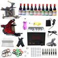 EE.UU. Despacho Principiante Kit de Tatuaje Completo 2 ametralladoras LCD Power 10 Ink Pigmento Equipo conjunto A01K003 Grip de Punta de Aguja suministro