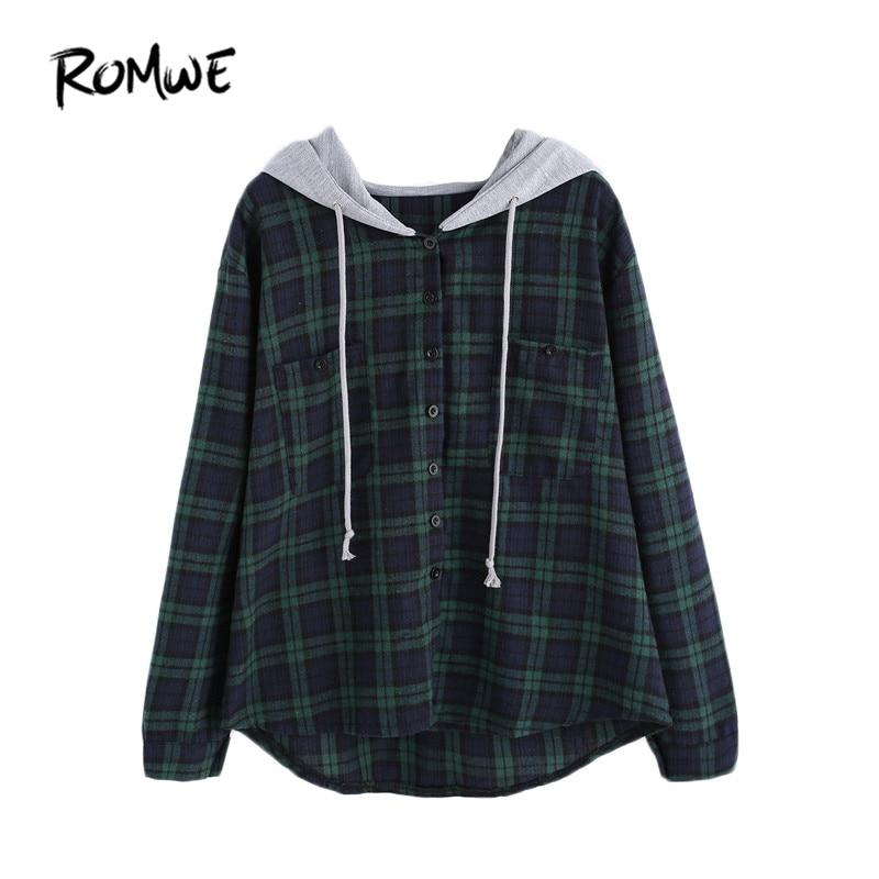 ROMWE Sweatshirt Pullover Women Hoodies
