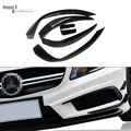 carbon fiber Mercedes W176 spoiler flip canards for Benz A Class 2013 - 2015 A200 A250 A45 front bumper fits AMG & AMG package