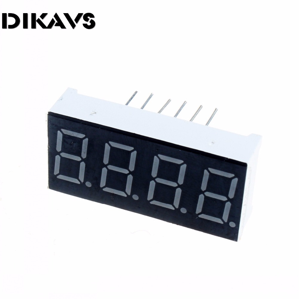 """10pcs  0.36"""" Inch 4 Digits Red LED Numeric Digital Display For Arduino"""