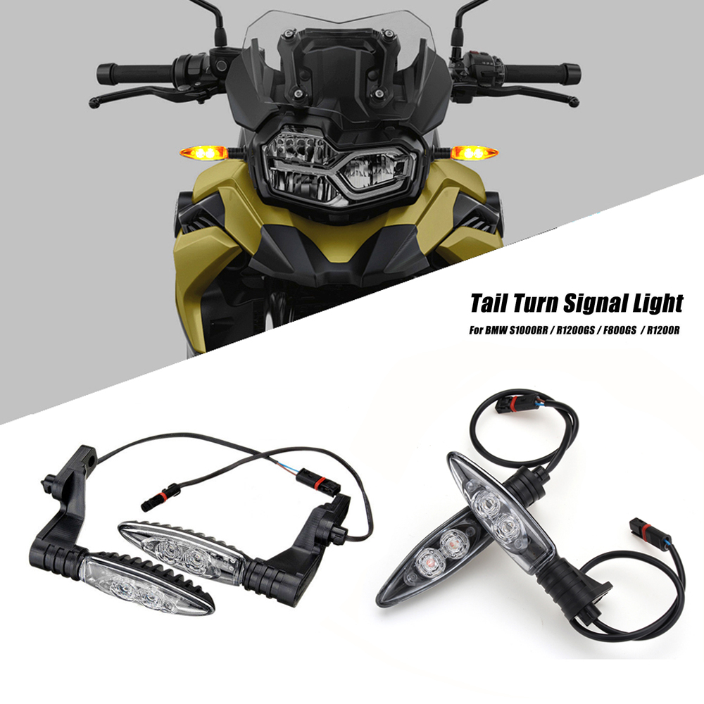 ケミモトBMW R1200GS R1200 GS ADV 2006-2013オートバイ用ウインカーライト1ペアフロントリアインジケーターF800R F800GS F700GS usbケーブル