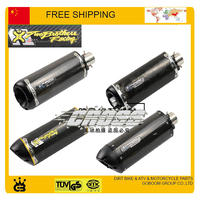 Modified Motorcycle Exhaust Pipe CNC Aluminium Alloy CBR R1 R6 ESCAPE Moto 51mm Mivv Akrapovic Twobrothers