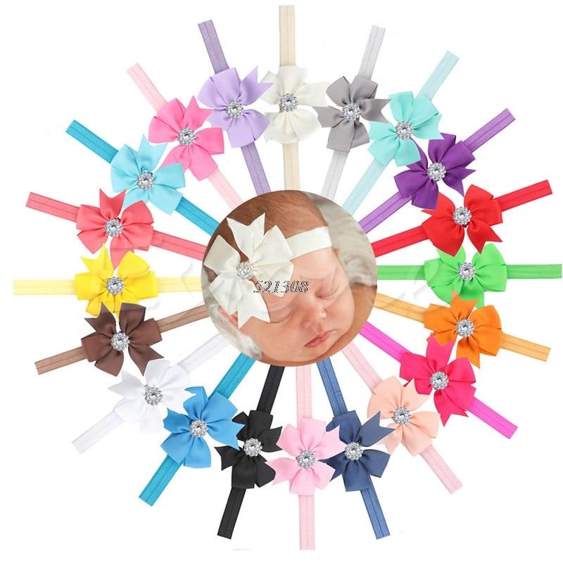 10Pcs Baby Newborn Girl Bow Headband Infant Toddler Hair Band Girls Accessories A19242