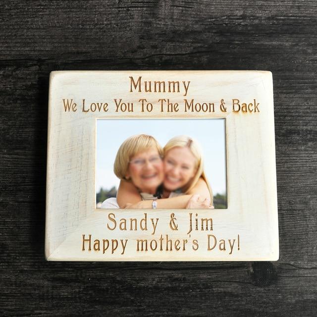 Mom Fotolijst, Custom Fotolijst, houten Frame, Dag Gift moeder ...