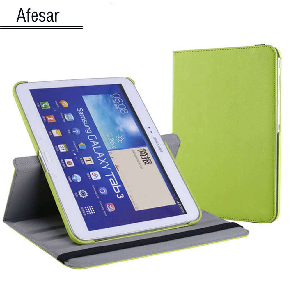 GT-P5200 P5210 P5220 Flip Folio Rotating stand Case Cover for Samsung Galaxy Tab 3 10.1 Tablet Auto Sleep/Wake function