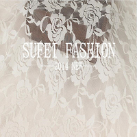 1yard 150cm Solid Color High Quality Dyeing Wedding Dresses Accessories Wedding Cloth Roses Warp Lace Fabric