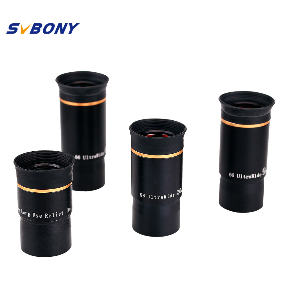 SVBONY 1 25 Eyepiece Kit 6 9 15 20mm 66 De Telescope Ultra Wide Angle FMC Eyepiece Kit for Astronomy Monocular Telescope F9157