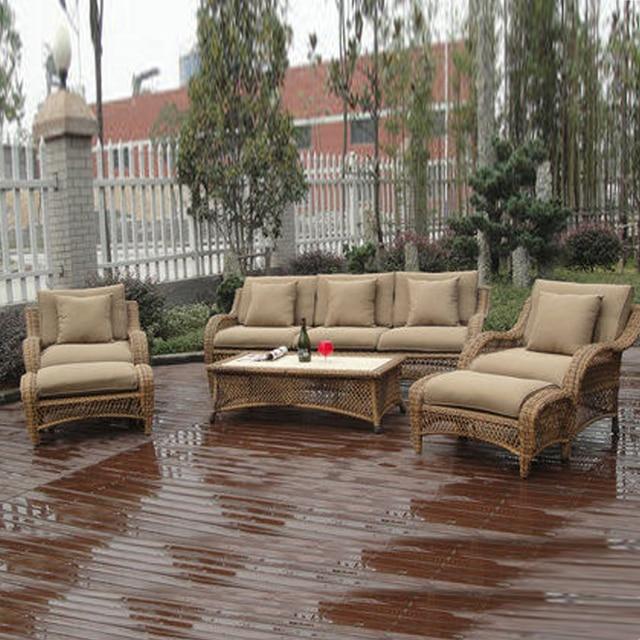 US $2299.0 |6 pcs halbe runde rattan sofa set Pastoralism Hause  Indoor/Outdoor Rattan Sofa Für Wohnzimmer in 6-pcs halbe runde rattan sofa  set ...