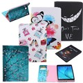 Fashion Print Leather Case For Samsung Galaxy Tab A 9.7 SM-T555 T550 9.7'' Case Wallet Flower Butterfly Card Slots Tablet Cover