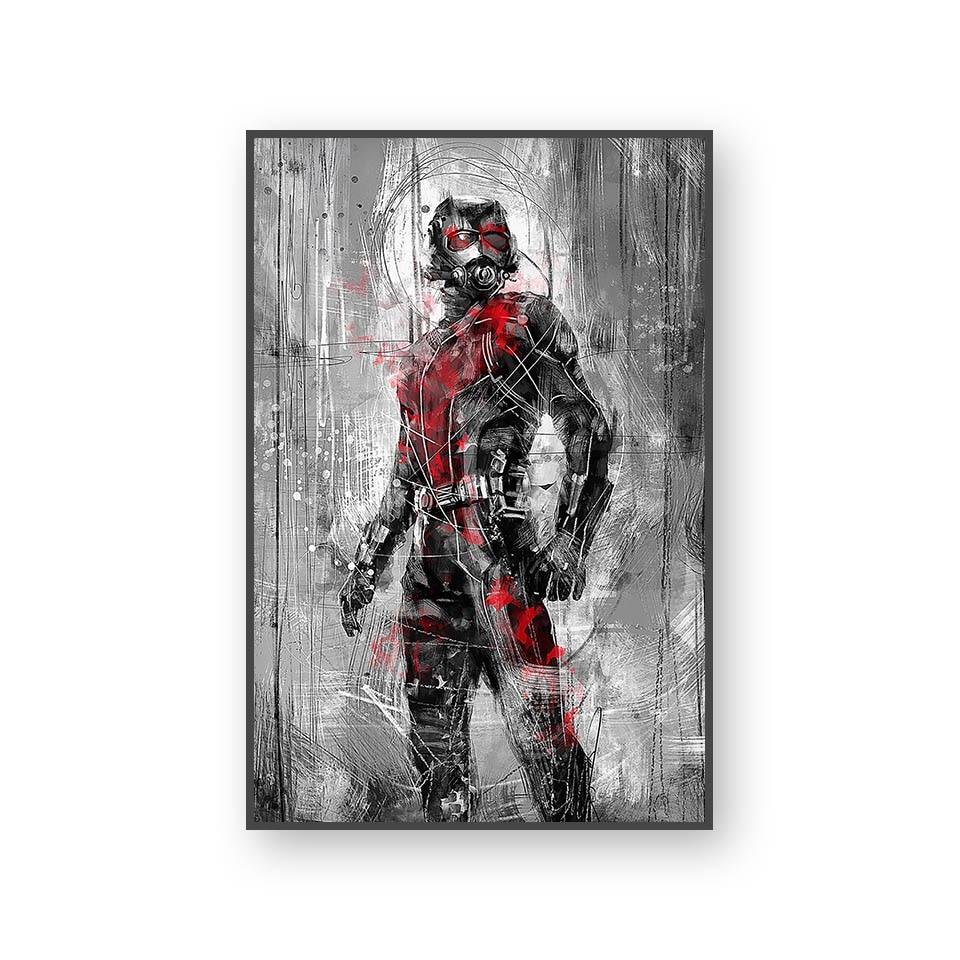 Настенный художественный холст с печатью постера, настенные картины для домашнего декора, Марвел, Мстители, фильм супергерой, Дэдпул, Железный Человек-паук, Локи - Цвет: L394X