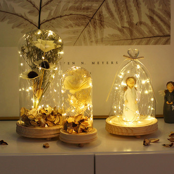 christmas Creative lamps glass covers dry flowers angel ornaments decorations bedroom living room teachers holiday gifts