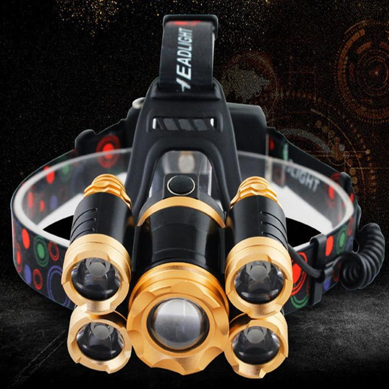 Lights & Lighting Frank T6+q5 Led Head Lamp Flashlight Torch Lanterna Head Light With Battery Ac/dc Charger Headlight 40000 Lumen Headlamp 5cree Xml Headlamps
