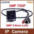Onvif P2P H.264 3.6 мм Объектив 720 P Мегапиксельная HD 1MP Крытый CCTV Безопасности Сети Мини Ip-камера