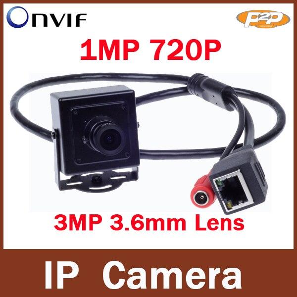 Onvif P2P  H.264 3.6mm Lens 720P Megapixel HD 1MP Indoor CCTV Security Network Mini IP Camera