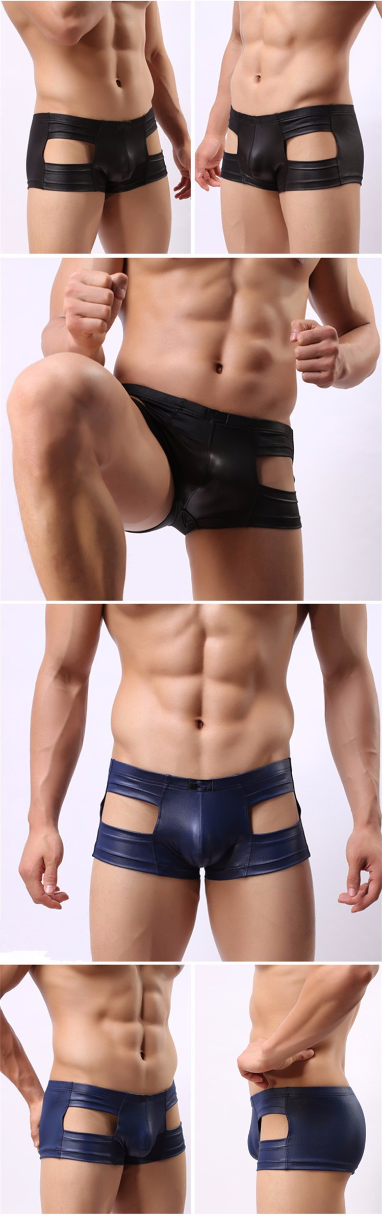 75a4769018df Men Sexy Tight Good Material Leather Panties Japanned Leather Shorts For Man  Beach Summer Underwear Swim Short GWB085. HTB1ZDSEHpXXXXcqaXXXq6xXFXXXn