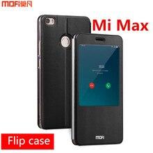 Xiaomi Mi Max чехол Обложка Window MOFI оригинальный Xiaomi Max чехол флип чехол открыть кожаный чехол Smart корпуса Капа Coque принципиально 6.44″