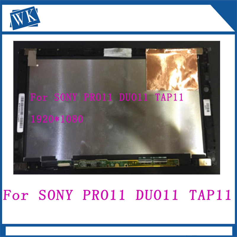 Free shipping 11.6 Touch Screen Digitizer With LCD Display Assembly For SONY Vaio PRO11 DUO11 TAP11 FLIP11 SVT112 VVX11F019G00