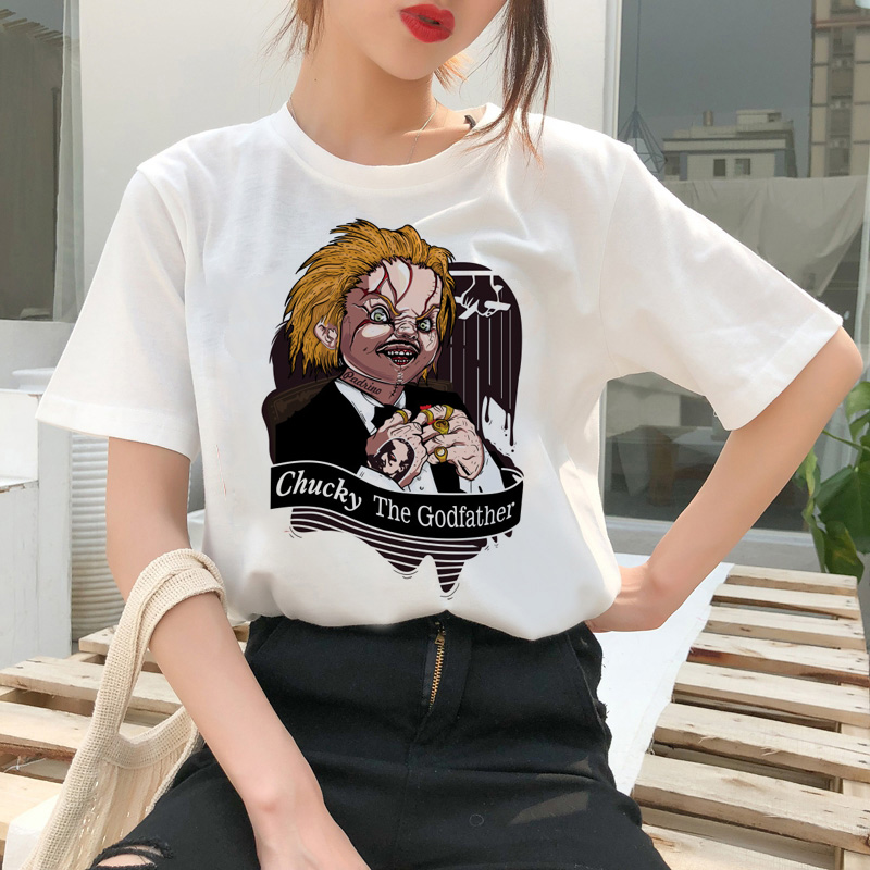 chucky t shirt Horror High cool women top Quality new streetwear tee t-shirt fashion ulzzang female shirts femme new tshirt 7