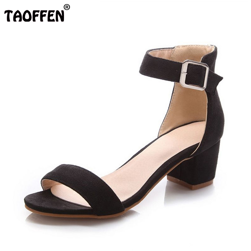 Women High Heel Sandals Women Open Peep Toe Shoes Womens Lady Suede Leather High Quality Fashion Brand Shoes Size 34-43 PA00633 women flat sandals fashion ladies pointed toe flats shoes womens high quality ankle strap shoes leisure shoes size 34 43 pa00290