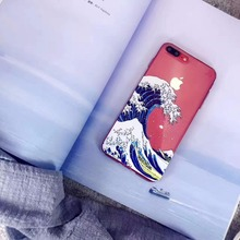 The Great Wave off Kanagawa Soft TPU Phone Case Cover For iPhone 7 7 Plus 6 6S Plus 6 6S 5 5S SE don t stop keep going Fundas