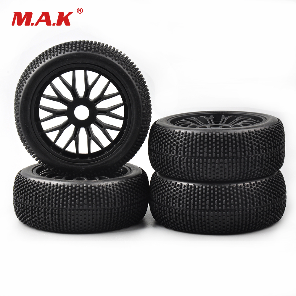 17mm Hex 4Pcs/Set Buggy Tires Wheel Rims For HSP HPI 1:8 RC Racing Off-Road Remote Control Toy Car Accessories 1 8 big foot tire hsp big tire diameter 150mm rc car 1 8 17mm wheel rims hex hub 4pcs