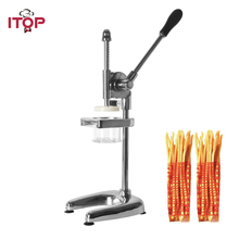 ITOP Manual Long 30cm Potato Ships Squeezer French Fries Cutters Machine Aliminum Alloy American Fried Chip Squeezers