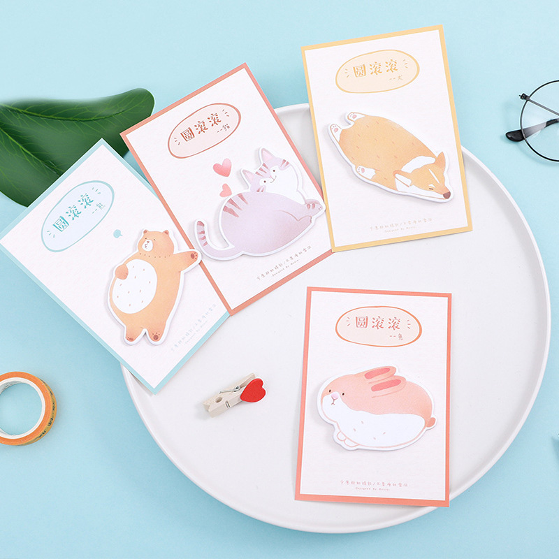 Cartoon Rabbit Fox Notepads Cute Kawaii Cat Bear Memo Pad Post Sticky Notes Office School Supplies For Kids Gift Student