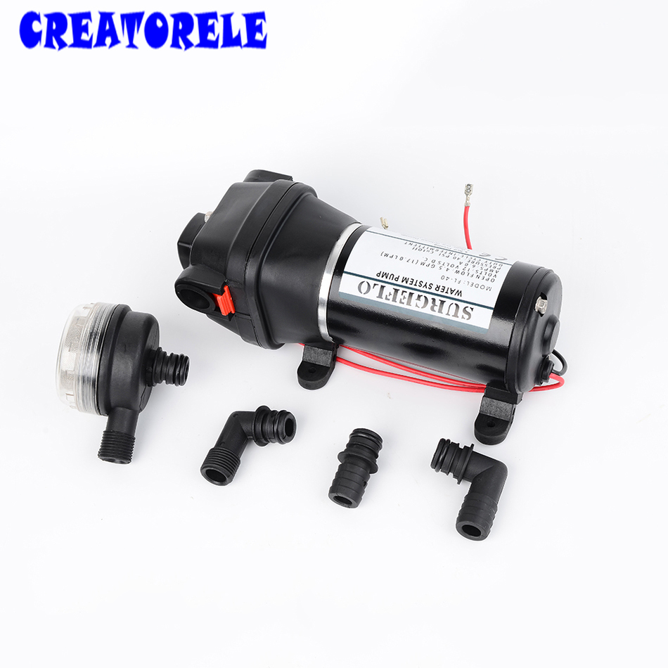 FL-40 FL-44 12V/24V DC mini Submersible low Electric Diaphragm pump 25m lift High Pressure water pumps self-priming electric kettle is warm and hot 304 stainless steels are used in the household