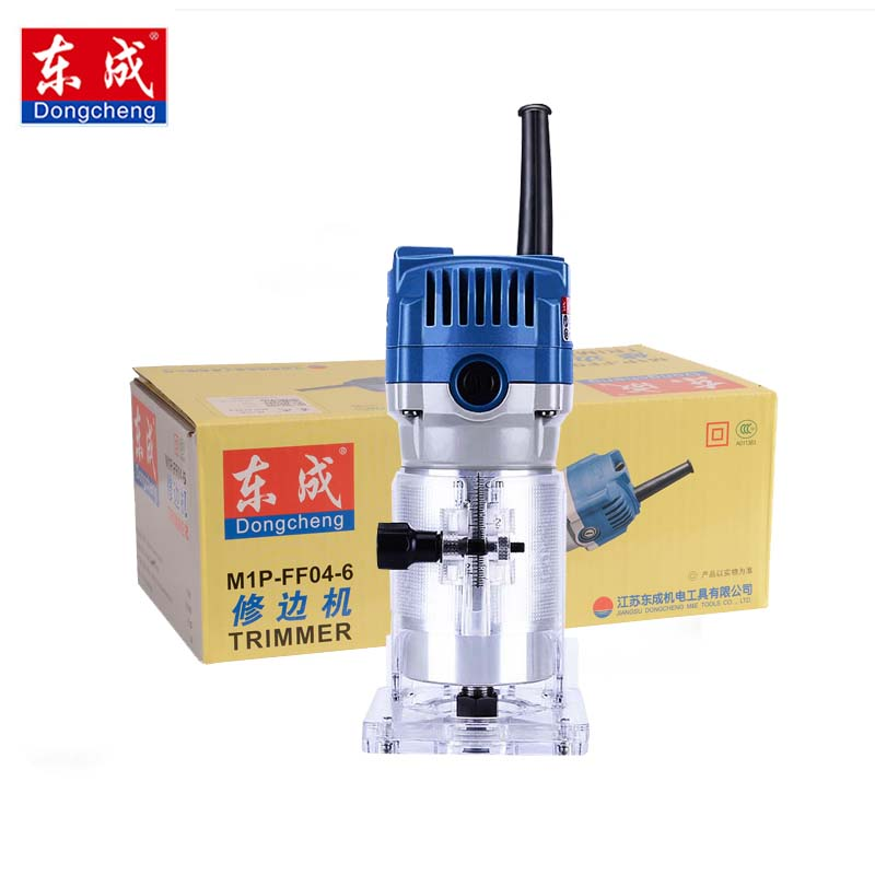 Dongcheng Router Trimmer Durable Small Copper Motor Carving Machine 1 4 Chuck Electric Woodworking Trimmer Power