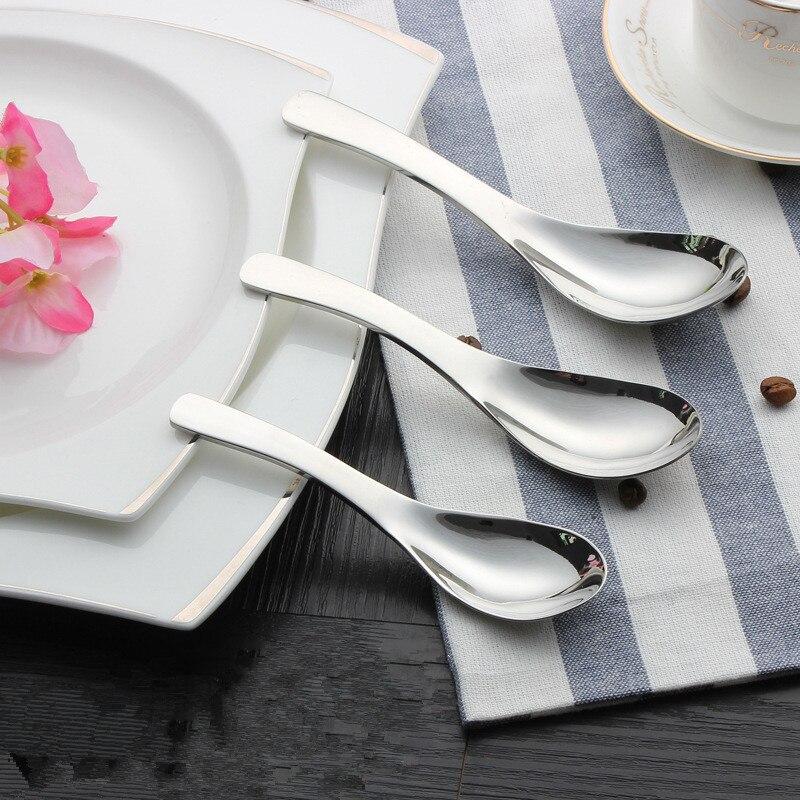 1 pieza nuevos utensilios cuchara redonda cuchara de cocina creativa cuchara de acero inoxidable cuchara de sopa